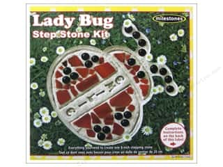 decorative floral: Milestones Stepping Stone Kit 8 in. Lady Bug