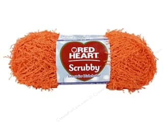 C: Red Heart Scrubby Yarn #258 Orange 92 yds.