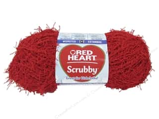 Red Heart Scrubby Yarn #905 Cherry 92 yds.