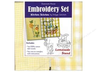 sewing & quilting: Dunroven House Towel Embroidery Set Lemonade 2pc