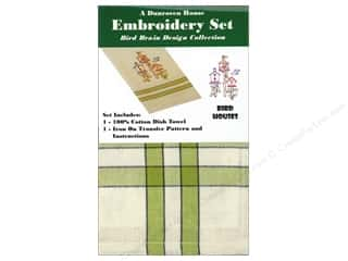 sewing & quilting: Dunroven House Towel Embroidery Set Bird Houses