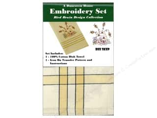 Bees: Dunroven House Towel Embroidery Set Bee Skep