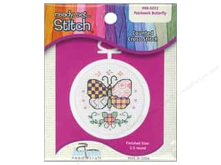yarn & needlework: Janlynn Kid Stitch Cross Stitch Kit 2 1/2 in. Butterfly