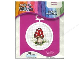 yarn & needlework: Janlynn Kid Stitch Cross Stitch Kit 2 1/2 in. Mushroom
