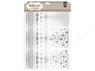 Bo Bunny Rub-Ons Foil Accents Silver