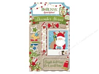 chipboard stickers: Bo Bunny Layered Chipboard Stickers Dear Santa