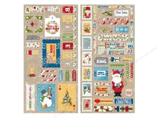 chipboard stickers: Bo Bunny Chipboard Stickers Dear Santa