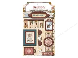 chipboard stickers: Bo Bunny Layered Chipboard Stickers Provence