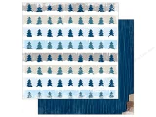 Winter Wonderland Printed Cardstock: Bo Bunny 12 x 12 in. Paper Sleigh Ride Collection Tranquil (25 sheets)