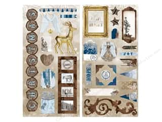 chipboard stickers: Bo Bunny Chipboard Stickers Sleigh Ride