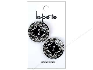 LaPetite 2 Hole Buttons 1 in. Black #2130 2 pc.