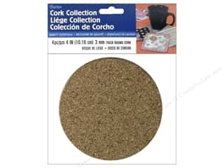 Darice Cork Disk Round 4 in. x 3 mm 4 pc.