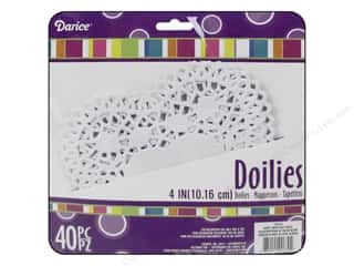 Darice Paper Doily 4 in. Heart White 40 pc