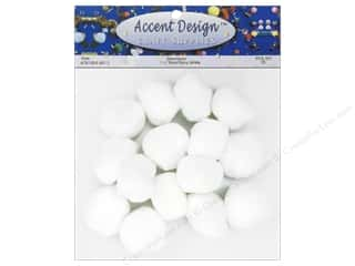 craft & hobbies: PA Essentials Pom Poms 1 1/2 in. White 15 pc.