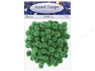 Pom Pom by Accent Design 1/2 in. Green 100 pc.