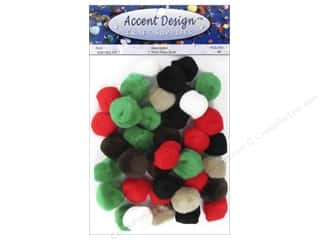 multi colored centers wiggle eyes: PA Essentials Pom Poms 1 in. Multi 40 pc .