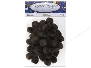 craft & hobbies: PA Essentials Pom Poms 1 in. Brown 40 pc.