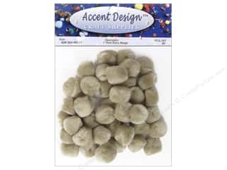 craft & hobbies: PA Essentials Pom Poms 1 in. Beige 40 pc.