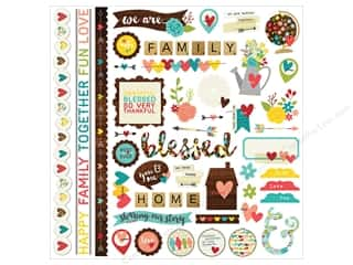 Theme Stickers / Collection Stickers: Simple Stories We Are Family Collection Sticker Fundamentals (12 sheets)