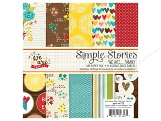 "Bo Bunny Paper Pads 6""x 6"": Simple Stories We Are Family Collection Paper Pad 6""x 6"""