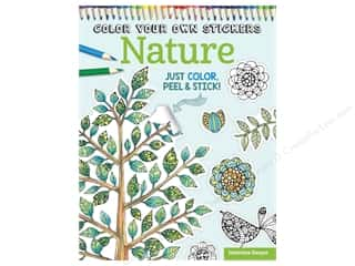 Design Originals Color Your Own Stickers Nature Coloring Book