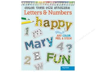 books & patterns: Design Originals Color Your Own Stickers Letters & Numbers Coloring Book