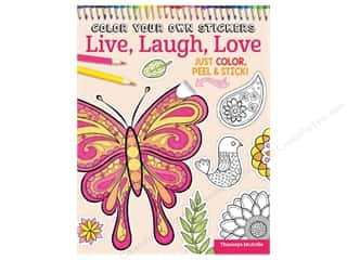 Design Originals Color Your Own Stickers Live, Laugh, Love Coloring Book