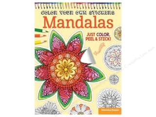 Design Originals Color Your Own Stickers Mandalas Coloring Book