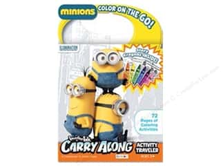 Bendon Imagine Ink Carry Along Book with Crayons Minions