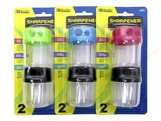 Bazic Pencil Sharpener With Receptacle Assorted.
