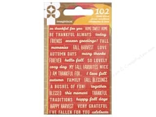 phrase stickers: Imaginisce Give Thanks Collection Sticker Phrase