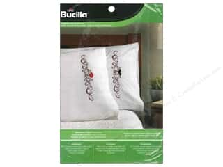 yarn & needlework: Bucilla Stamped Cross Stitch Pillowcase Mustache & Lips