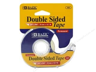 "art, school & office: Bazic Basics Tape Double Sided Permanent With Dispenser 3/4""x 500"""