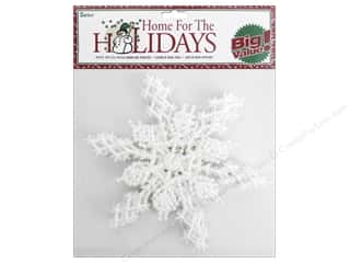 Darice 6 1/2 in. Snowflake 6 pc. Pearlized White