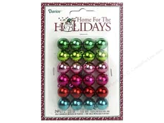 Darice Mini Ball Ornaments 5/8 in. Metallic Assorted Colors 24 pc.