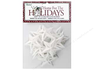 Darice Ornament 2 in. Star 12 pc. Glitter White