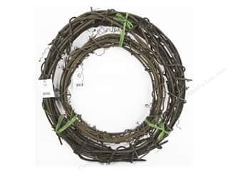 Sierra Pacific Decor Vine Wreath with Natural Finish Set/2