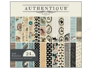 Cardstock  6x6: Authentique 6 x 6 in. Paper Bundle Devoted Collection