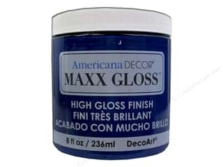 Acrylic Paint Blue: Decoart Americana Decor Maxx Gloss 8 oz. Sapphire