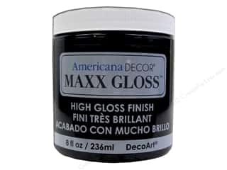 craft & hobbies: Decoart Americana Decor Maxx Gloss 8 oz. Patent Leather