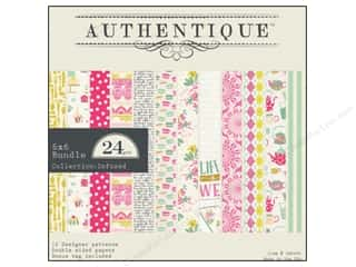 Cardstock  6x6: Authentique 6 x 6 in. Paper Bundle Infused Collection