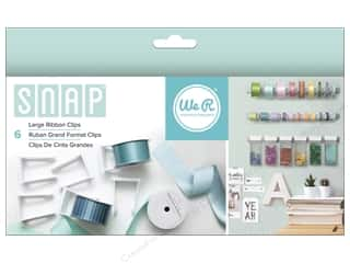 Clearance We R Memory Sew Ribbon Ribbon: We R Memory Keepers Snap Storage Ribbon Clips Large 6 pc.