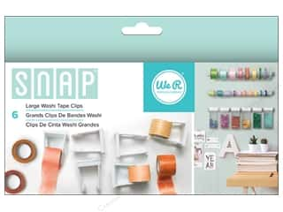 storage : We R Memory Keepers Snap Storage Washi Tape Clips Large 6 pc.