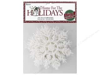 craft & hobbies: Darice 4 in. Snowflake 10 pc. Pearlized White