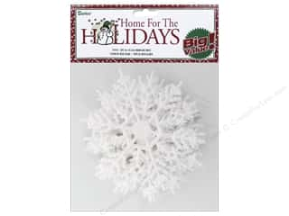 craft & hobbies: Darice 4 in. Snowflake 10 pc. Glitter White