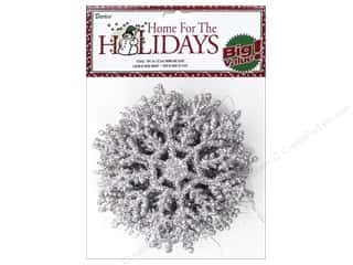 craft & hobbies: Darice 4 in. Snowflake 10 pc. Glitter Silver