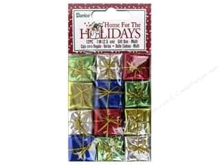 craft & hobbies: Darice Holiday Gift Boxes 1 in. Assorted 12 pc.