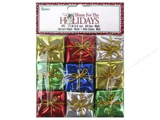 Darice Holiday Gift Boxes 1 1/2 in. Assorted 9 pc.