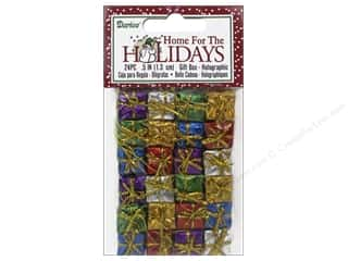 craft & hobbies: Darice Holiday Gift Boxes 1/2 in. Assorted Holographic 24 pc.