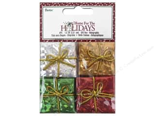 Darice Holiday Gift Boxes 1 1/2 in. Assorted Holographic 4 pc.